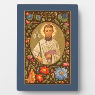 "St. Aloysius (P.M. 01) 5"" x7"" Plakette #1 mit Fotoplatte"