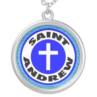 St Andrew Versilberte Kette