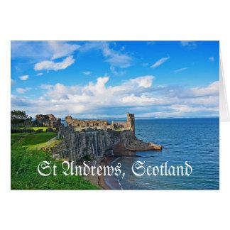 St- Andrewsschloss, Schottland Karte