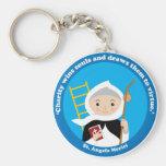 St. Angela Merici Standard Runder Schlüsselanhänger