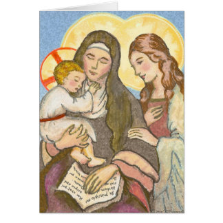 St Ann mit Jesus- und Mary-Gruß-Karte Grußkarte