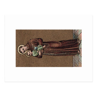 St Anthony u. Baby Jesus Postkarte