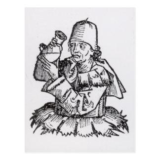 St Anthony von 'Liber Chronicarum Postkarte