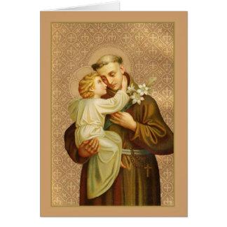 St Anthony von Padua-Baby Jesus Karte