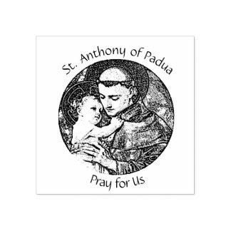 St Anthony von Padua mit Baby Jesus Gummistempel