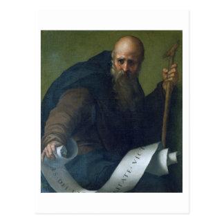 St- Anthonyabt (c.251-356) c.1518-19 (Öl auf Ca Postkarte