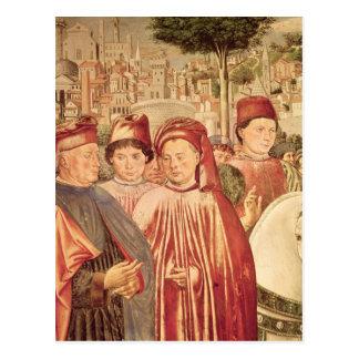 St Augustine, das für Mailand abreist Postkarte