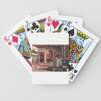 St Augustine in seiner Studie - Vittore Carpaccio Bicycle Spielkarten
