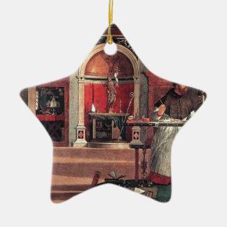 St Augustine in seiner Studie - Vittore Carpaccio Keramik Ornament