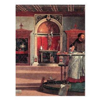 St Augustine in seiner Studie - Vittore Carpaccio Postkarte