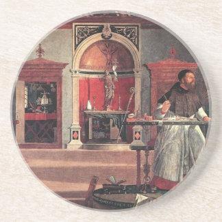 St Augustine in seiner Studie - Vittore Carpaccio Sandstein Untersetzer