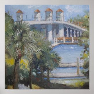 St- Augustinebrücke der Löwen Poster
