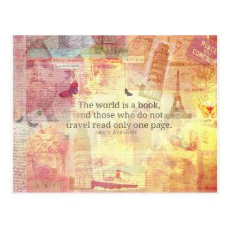 St- Augustinewelt ist ein Buchreisezitat Postkarte
