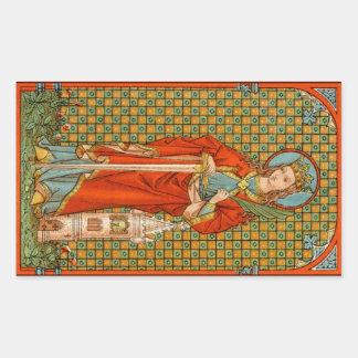 St. Barbara (JP 01) Rechteckiger Aufkleber