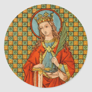 St. Barbara (JP 01) Runder Aufkleber