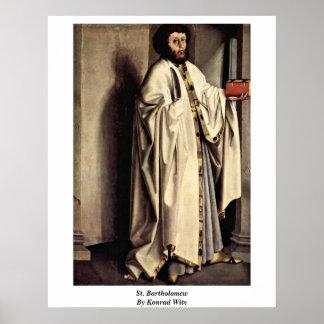 St Bartholomew durch Konrad Witz Poster