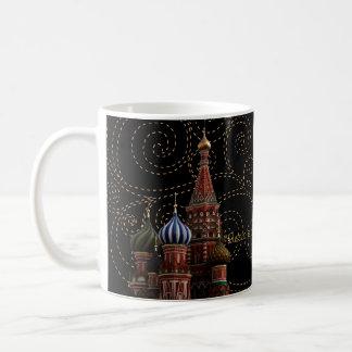 St.-Basilikums Moskau-Russland die Kaffeetasse