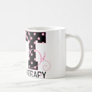 St. beschriftet die schwarzen und rosa Tupfen Kaffeetasse