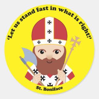 St Boniface Runder Aufkleber