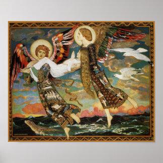 St., Braut - getragen durch Engel - durch John Dun Poster
