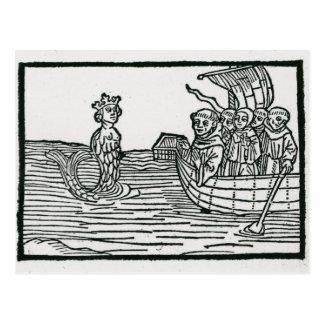 St. Brendan und die Sirene Postkarte