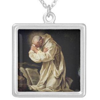 St. Bruno, der in der Wüste, 1763 betet Halskette Mit Quadratischem Anhänger