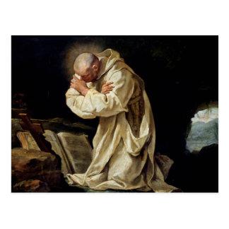 St. Bruno, der in der Wüste, 1763 betet Postkarte