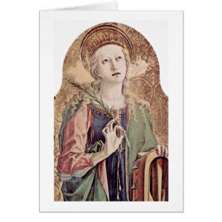 St.Catherine von Alexandria durch Carlo Crivelli Grußkarte