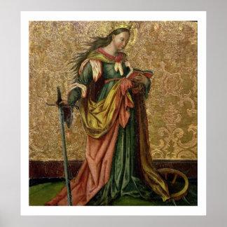 St. Catherine von Alexandria (Öl auf Platte) 2 Poster