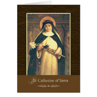 St. Catherine von Siena beten für uns Karte