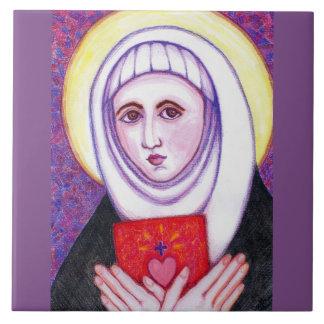 """""""St. Catherine von Siena """" Keramikfliese"""