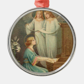 St- Ceciliagönnerin der Musiker Silbernes Ornament
