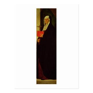St. Clare, c.1485-90 (Tempera auf Platte) Postkarte