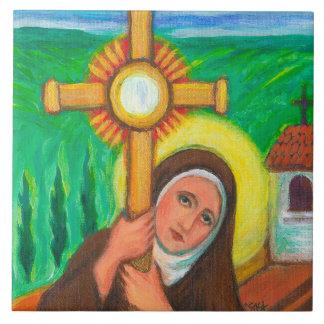 """""""St. Clare von Assisi """" Keramikfliese"""