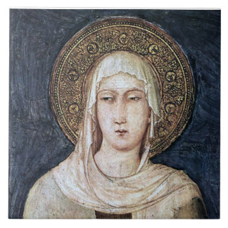 ST. CLARE VON ASSISI, KERAMIKFLIESE