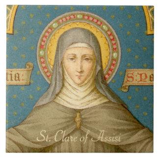 St. Clare von Assisi (SAU 027) Keramik-Fliese 1 Keramikfliese