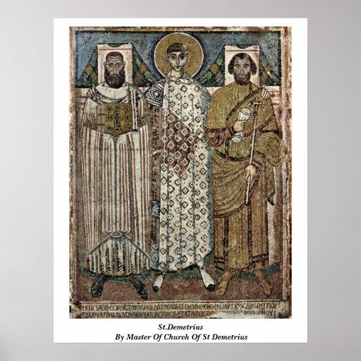 St.Demetrius durch Meister der Kirche von St. Deme Plakat