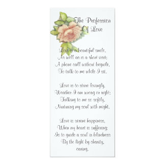 St. Des Valentinsgrußes Gedicht-Fertigen besonders 10,2 X 23,5 Cm Einladungskarte