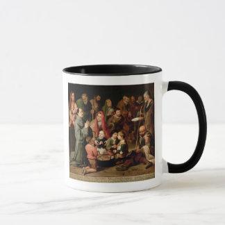 St. Diego von Alcala Nahrung gebend den Armen Tasse
