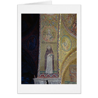 St Dominic und Sankt Nikolaus, Mosaik im Atrium Karte