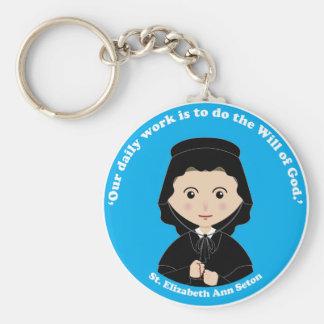 St. Elizabeth Ann Seton Standard Runder Schlüsselanhänger
