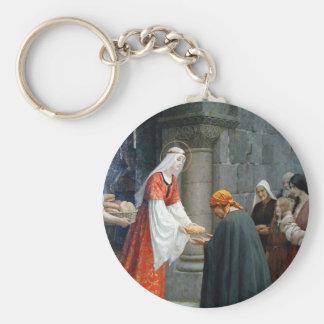 St. Elizabeth von Ungarn füttert die Armen Schlüsselanhänger