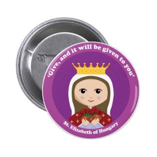 St. Elizabeth von Ungarn Runder Button 5,7 Cm