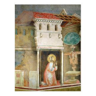 St Francis, das in der Kirche von San betet Postkarte