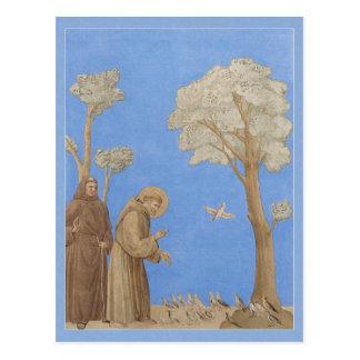 St Francis, das zur Vögel CC0582 Postkarte predigt