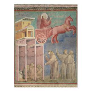 St Francis erscheint zu seinen Begleitern Postkarte