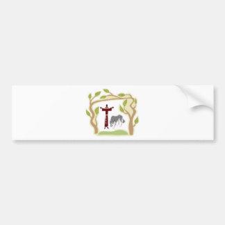 St Francis und die Wolf-Krawatte, die Autoaufkleber