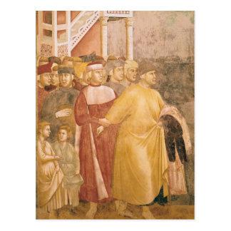 St Francis verzichtet auf alle weltlichen Waren Postkarte
