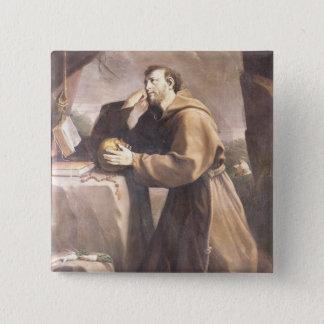 St Francis von Assisi am Gebet Quadratischer Button 5,1 Cm