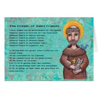 St Francis von Assisi Notecard Karte